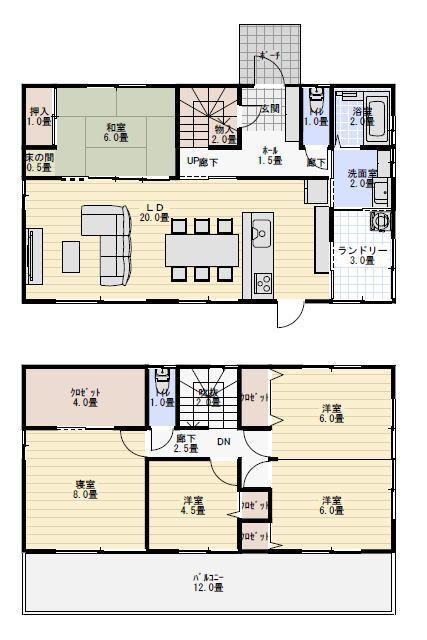 39坪5ldk物干し室のある間取り 間取り 人気 40坪 間取り 2階 間取り 間取り