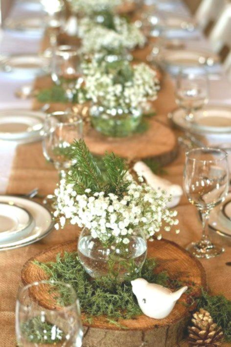 Simple Centerpieces For A Beautiful Natural Display Beautiful Centerpieces Display Winter Table Decorations Simple Centerpieces Winter Table