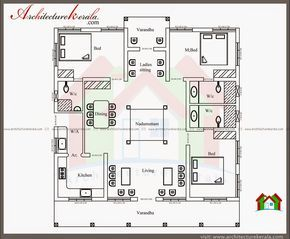 Nalukettu Style Kerala House With Nadumuttam Architecture Kerala Indian House Plans Model House Plan House Layout Plans