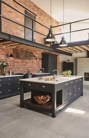 Kitchen Loft Design Modern 45 Ideas Industrial Kitchen Design