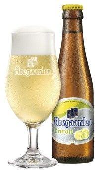 Cerveja Hoegaarden Citron, estilo Witbier, produzida por Brouwerij Hoegaarden, Bélgica. 3% ABV de álcool.