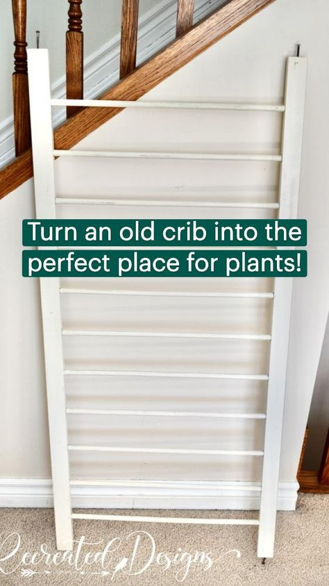 Turn an old crib into the perfect place for plants!