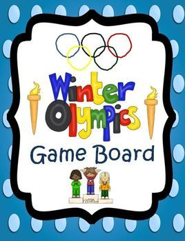 Winter Olympic Games: fun student game board and Olympic trivia. $