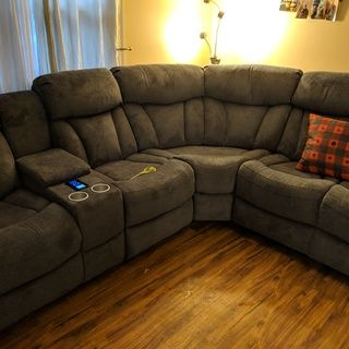 Miraculous Connell 3 Pc Power Reclining Sectional Sofa W Heat And Short Links Chair Design For Home Short Linksinfo