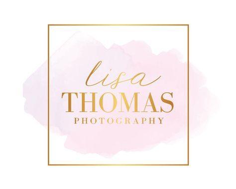 Premade Gold Photography Logo Branding Kit Calligraphy Premade