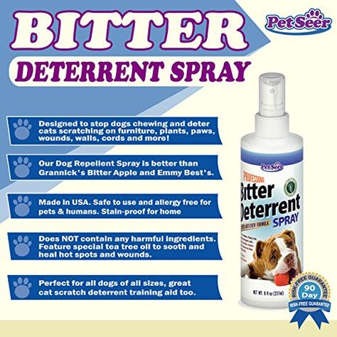 Amazon Com Pro Bitter Apple Spray Pet Deterrent New Patented