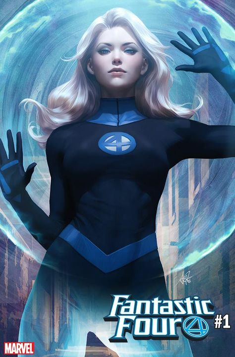 """Marvel has revealed Stanley """"Artgerm"""" Lau's covers to Fantastic Four featuring Mister Fantastic and The Invisible Woman. Marvel Dc Comics, Marvel Avengers, Bd Comics, Marvel Women, Marvel Girls, Comics Girls, Marvel Heroes, Captain Marvel, Fantastic Four 1"""