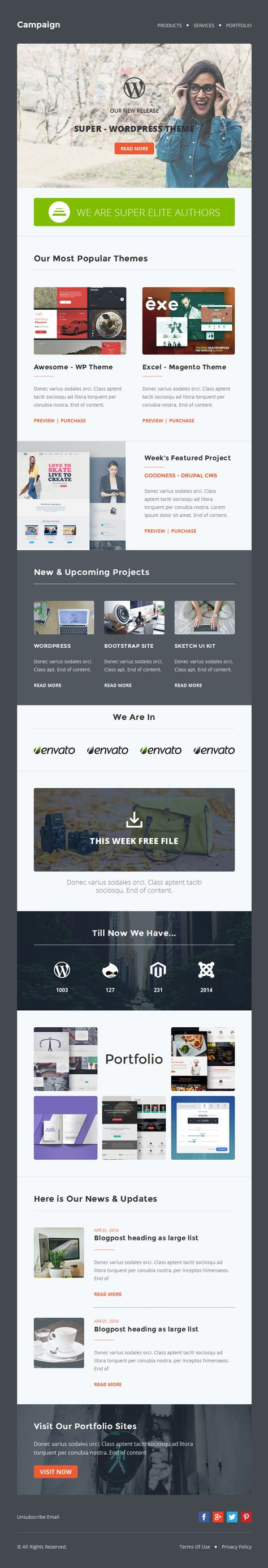 Campaign - Multipurpose Responsive Email Newletter Templates ...