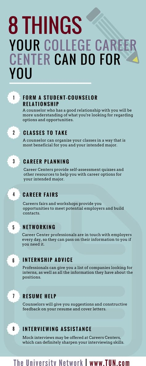 8 Things Your College Career Center Can Do for You | The University Network
