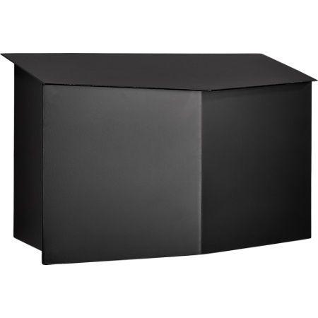 Bow Angled Black Wall Mounted Mailbox Reviews Mounted Mailbox