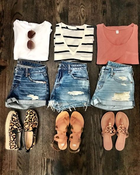 Good Summer Outfits For School lot Womens Clothes Resale Near Me or Best Summer Casual Outfits Cute Summer Outfits, Summer Wear, Spring Summer Fashion, Casual Summer Clothes, Ootd Summer Casual, Stylish Outfits, Summer Clothing, Cute Vacation Outfits, Dress Summer