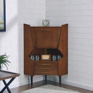 Wrought Studio Hester Corner Bar Cabinet In 2019 Corner Bar