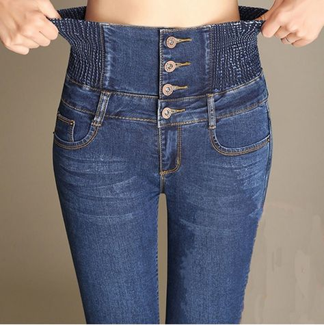 462c6de1352f28 Women Ladies High Waist Slim Skinny Jeans Stretch Pencil Denim Pants  Trousers US #Unbranded #SlimSkinny