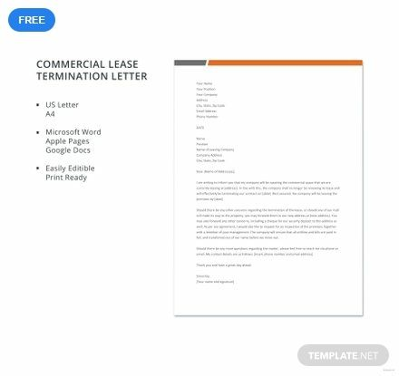 Free Commercial Lease Termination Letter Resume Cover Letter