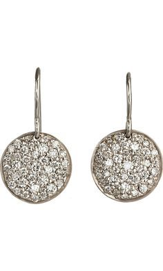 Finn Pave Diamond Birthday Disc Earrings I Need These