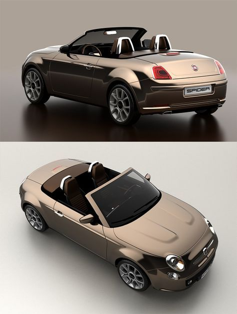 Fiat 500 Spider By David Obendorfer Cars Fiat 500 Fiat Fiat