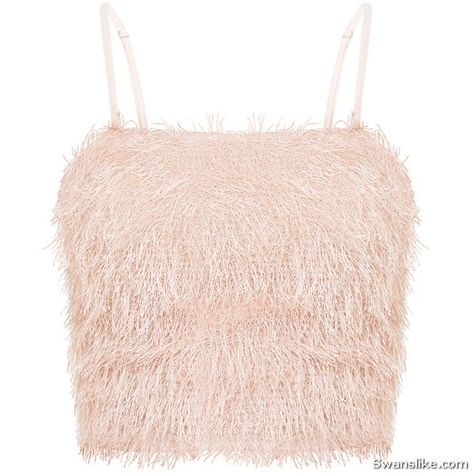 f40ee7c8cb1 Brittnay Blush Ruffle Detail Knit Tube Top ( 21) ❤ liked on Polyvore  featuring tops