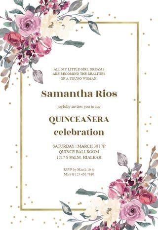 Quinceanera Invitation Wording Spanish Invitation Templates Quinceanera Invitations Quince Invitations Quinceanera Invitation Wording