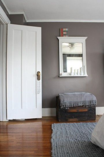 Benjamin Moore Stone 2112-40 - thus would be a pretty backdrop in dining room w/ wythe blue buffet