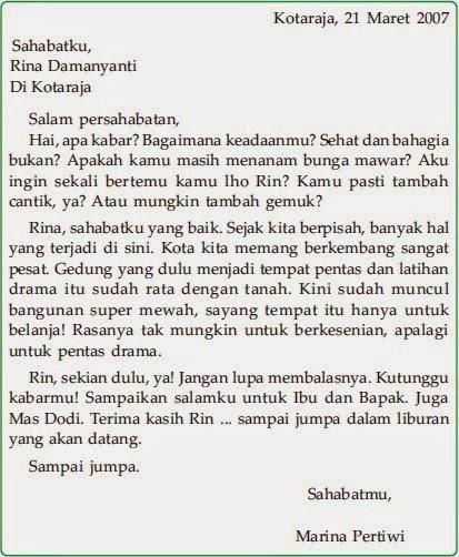 Contoh Surat Untuk Sahabat Pena Bahasa Indonesia Global Images