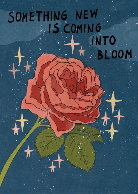 Something new is coming into bloom Art Print by Asja Boros - X-Small