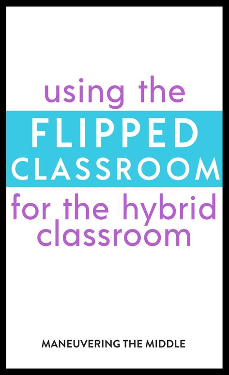 Find out some ways to make your flipped classroom work in hybrid learning environment. We will be sharing ideas on how to schedule and what tools you will need to set up your students for success.| maneuveringthemiddle.com Middle School Reading, Middle School Classroom, Flipped Classroom, Math Classroom, Google Classroom, Teaching Science, Student Learning, Teaching Ideas, Canvas Learning Management System