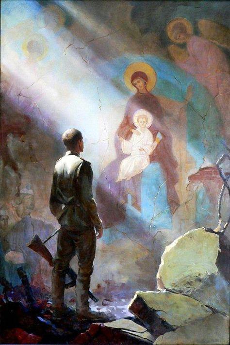 Orthodoxy in art Catholic Art, Religious Art, Christian Artwork, Russian Painting, Ecole Art, Art Et Illustration, Orthodox Icons, Sacred Art, Military Art