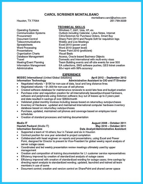nice Impressive Professional Administrative Coordinator Resume - project assistant resume