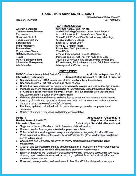 nice Impressive Professional Administrative Coordinator Resume - business object resume