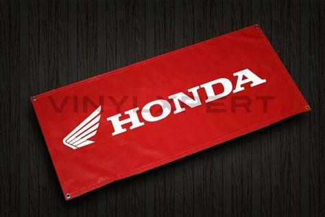 Honda Motocycle 2 X4 Vinyl Banner Racing Room Garage Shop Sign Dirt Bike In 2020 Vinyl Banners Shop Signs Garage Shop