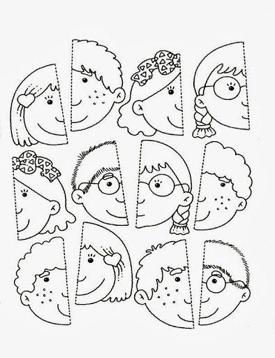 25 Ideas De Partes Para Armar Cara Y Cuerpo Partes Del Cuerpo Preescolar Actividades Actividades Para Preescolar