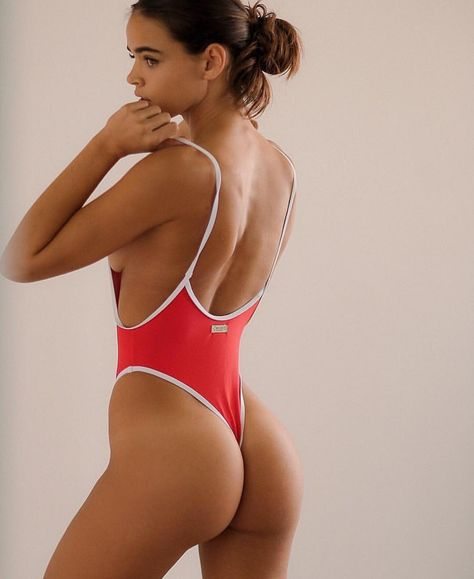 """7d4ad50236 boutinela  """" Restocked  Our Bay Red Retro One Piece is back in stock.  Limited quantities.  chooksla  boutinelababe Shop www.BoutineLA.com   www."""