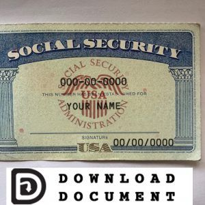 Social Security Card 17 Ssn Download Social Security Card Card Template Templates Printable Free