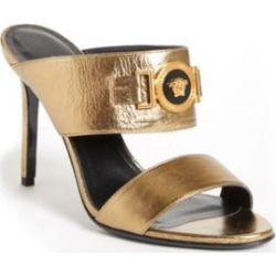 Versace gold, Leather mules