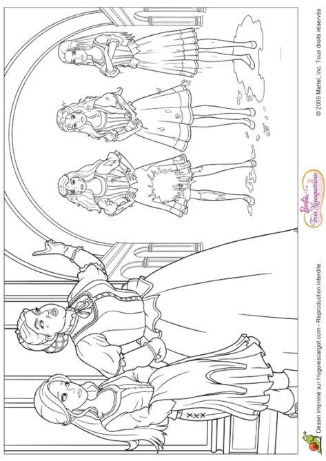 Coloriage Barbie Les 3 Mousquetaires Coloriage Barbie Coloriage