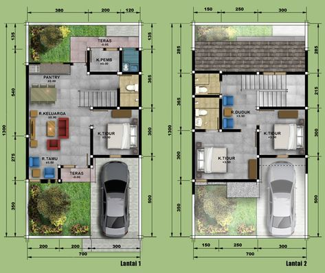 sketsa dan denah rumah minimalis type 90 | denah rumah