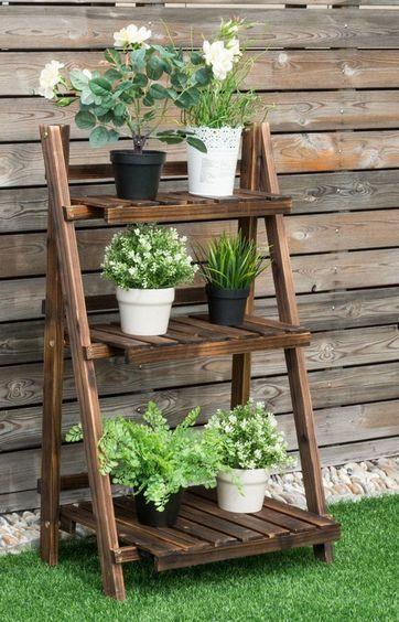 3 Tier Plant Stand Garden Decor Idea Affiliate Home Outdoor Patio Gardening Plants Decoration Id Plant Ladder Plant Shelves Outdoor Ladder Shelf Decor
