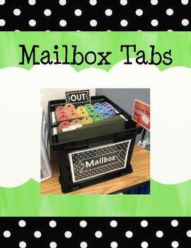 Mailbox Tab Printables Classroom Mailboxes Student Mailboxes Teaching Fun