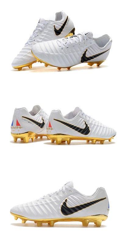 New Nike Tiempo Legend Vii Fg Kangaroo Boots White Gold