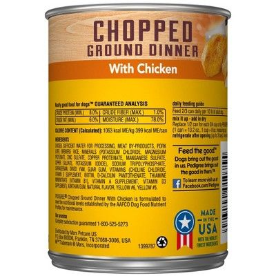 Pedigree Ground Chicken Wet Dog Food 13 2oz Dog Food Recipes