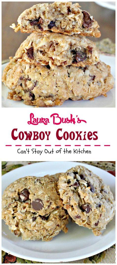 Laura Bush's Cowboy Cookies   these fabulous cookies were a presidential winner!!!!!!!