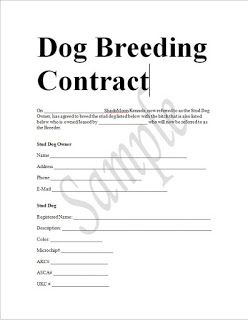 All Contracts In 1 Place Dog Breeding Business