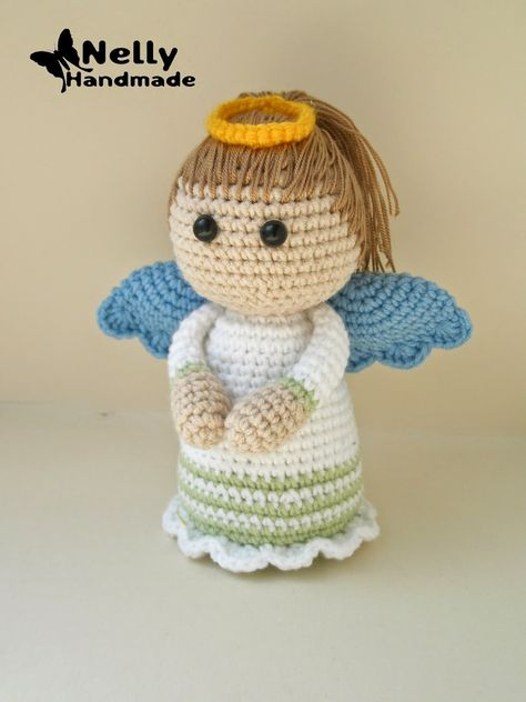 Angel Doll Amigurumi - Free Russian Pattern here: http://nellyhandmade.blogspot.com.es/2014/06/blog-post_7972.html