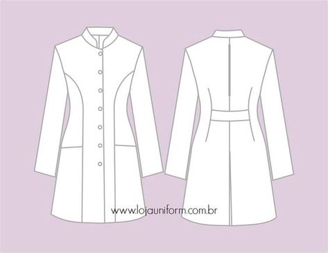Doctor White Coat, Doctor Coat, Dental Uniforms, Lab Coats, Medical Scrubs, Vest Pattern, Fashion Sewing, Fashion Flats, Blazer