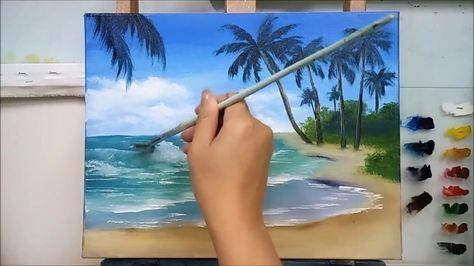 Yagliboya Deniz Nasil Yapilir Youtube Deniz Resmi Nasil Cizilir Seemalerei Bilder Malerei