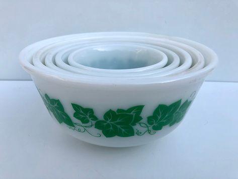Alpine White by Hazel Atlas Milkglass Repurposed Chip and Dip set