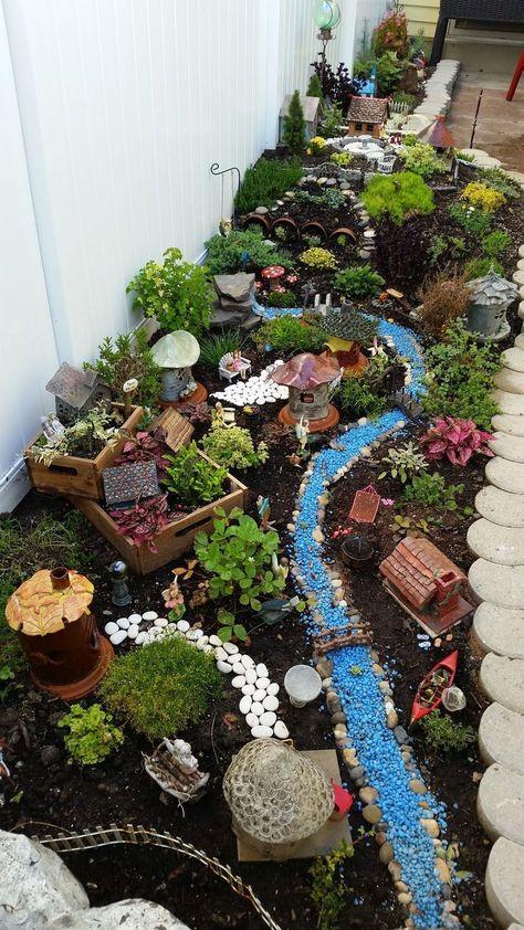 Fairy village. Fairy Garden. Miniature fairy garden