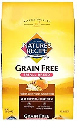 Amazon Com Nature S Recipe Grain Free Small Breed Dry Dog Food Chicken Sweet Potato Pumpkin Recipe 12 Pounds Best Dog Food Dog Food Recipes Dry Dog Food