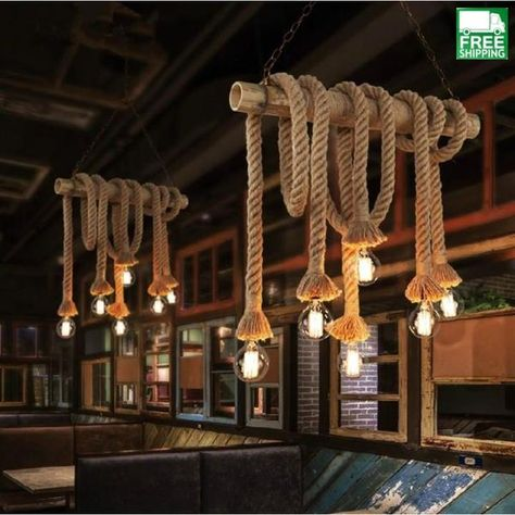 Cheap lamp Buy Quality lamp set directly from China lamp dining Suppliers: Vintage Rope Pendant Lights Lamp Loft Creative Personality Industrial Lamp Edison Bulb American Style For Living Room decoration