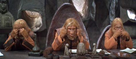 """Monkey Ape Evolution /""""Higher Learning/"""" Thinker Real Bronze"""
